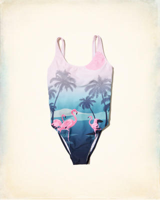 High-Leg One-Piece Swimsuit