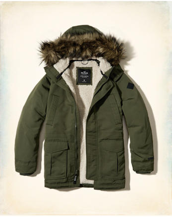 hol Hollister All-Weather Sherpa Lined Parka