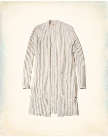 hol Ribbed Duster Cardigan
