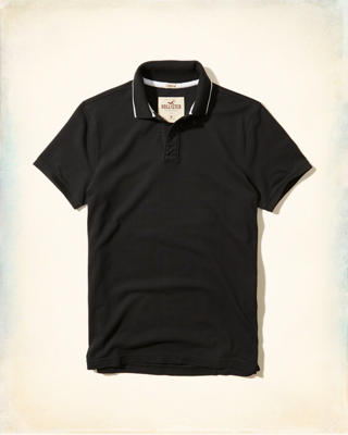 Stretch Pique Tipped Polo
