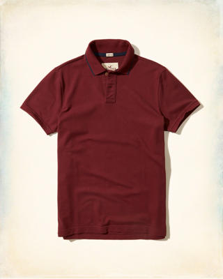 Tipped Stretch Pique Polo