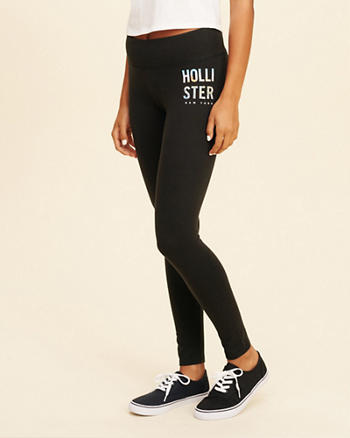 New York Logo Graphic Jersey Leggings