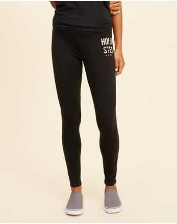 hol Hawaii Logo Graphic Jersey Leggings