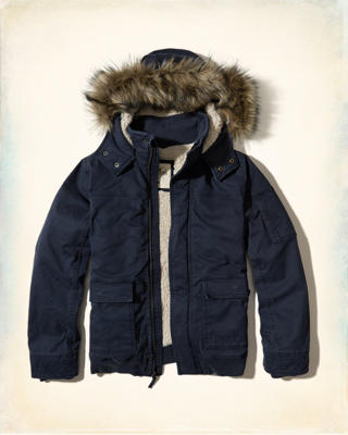 Sherpa Lined Twill Jacket