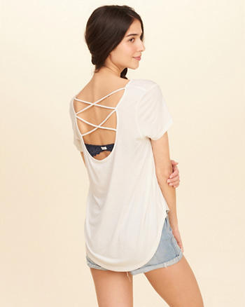 Strappy Open Back T-Shirt