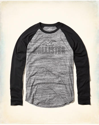 hol Colorblock Raglan Graphic Tee