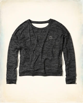 Cutout Crop Sweatshirt