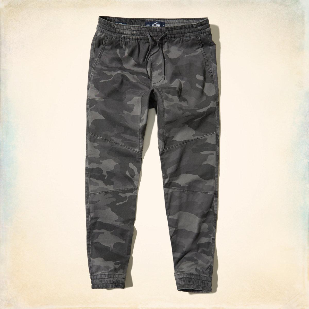 Camo Twill Jogger Pants