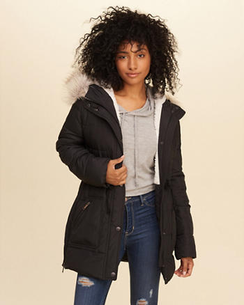 Sherpa-Lined Puffer Parka