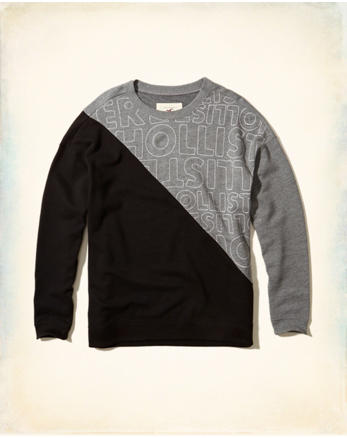 hol Colorblock Graphic Crew Sweatshirt