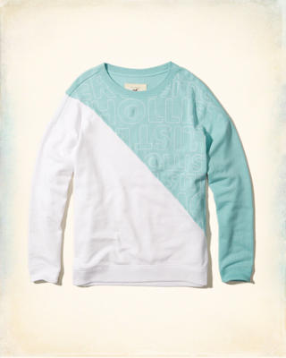 Colorblock Graphic Crew Sweatshirt