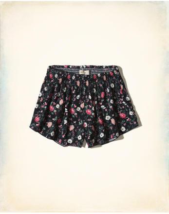 hol Smocked Waist Shorts