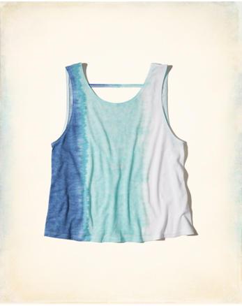 hol Open Back Tie-Dye Tank