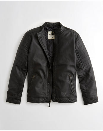 hol Vegan Leather Moto Jacket