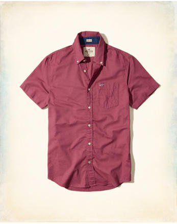 hol Short-Sleeve Stretch Oxford Shirt