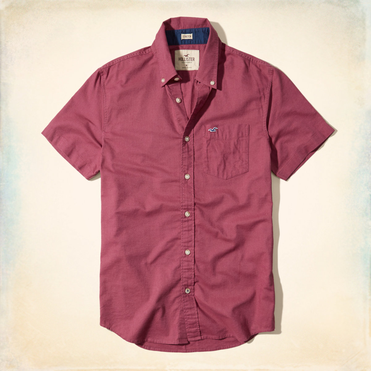 Short-Sleeve Stretch Oxford Shirt