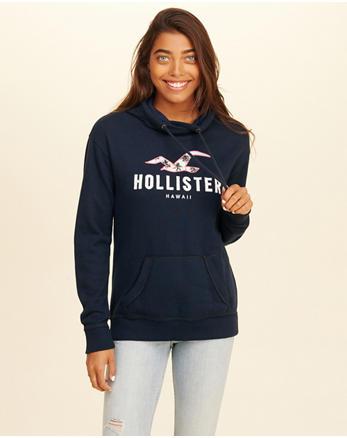 hol Hawaii Logo Graphic Hoodie