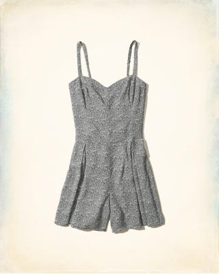 Patterned Woven Romper