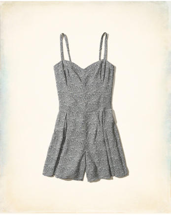 hol Patterned Woven Romper