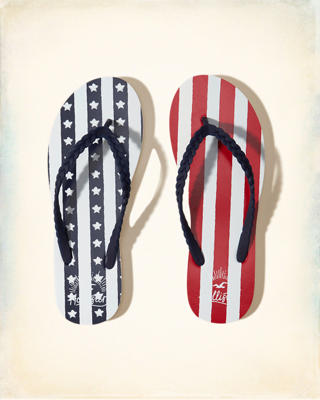 Flag Rubber Flip Flops
