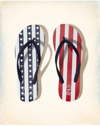 hol Flag Flip Flops