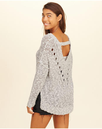 hol Oversized Open Back Sweater