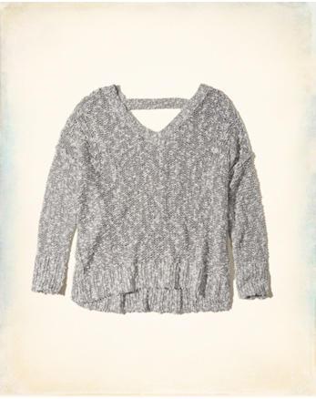 hol Oversized Open Back Sweater