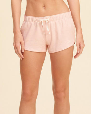Curved Hem Lounge Shorts