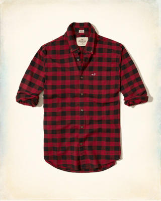 Stretch Plaid Oxford Shirt