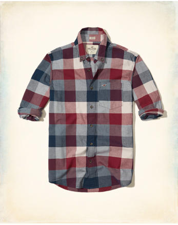 hol Stretch Plaid Poplin Shirt