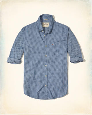 Patterned Poplin Shirt