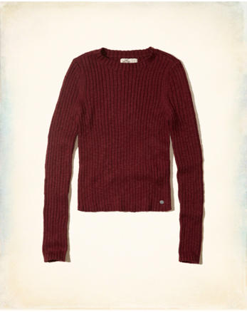 hol Slim Crop Crewneck Sweater