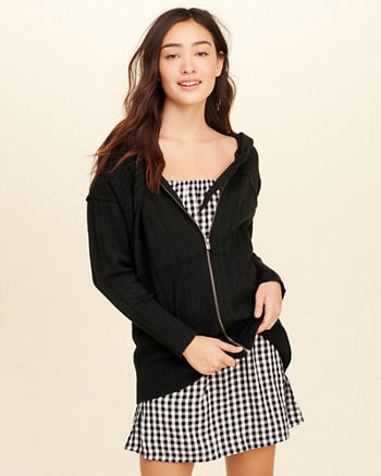 Full-Zip Hooded Sweater