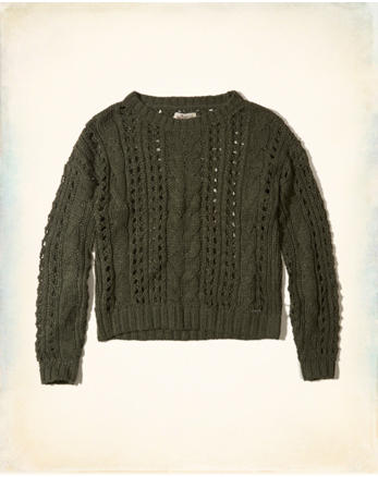 hol Open Stitch Cable Sweater