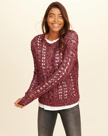 Open Stitch Cable Sweater