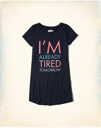 hol T-Shirt Sleep Dress