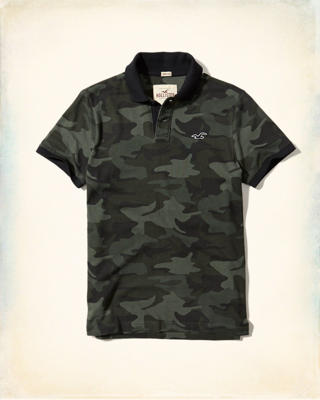 Stretch Pique Camo Polo