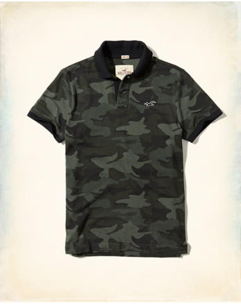 hol Stretch Pique Camo Polo