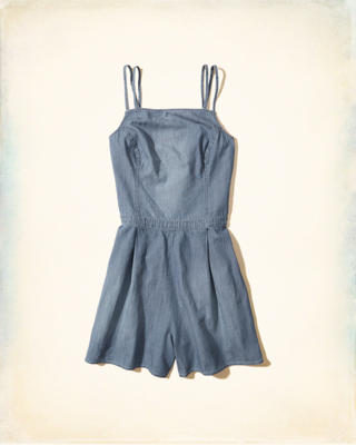 Chambray Strappy Romper