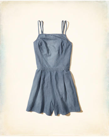 hol Chambray Strappy Romper