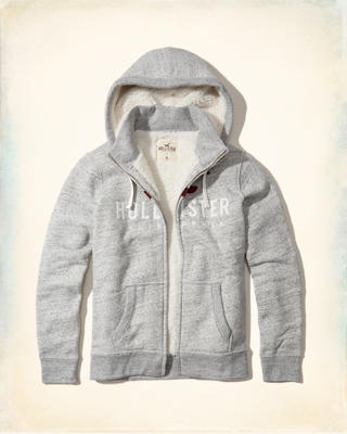 Sherpa Lined Graphic Hoodie