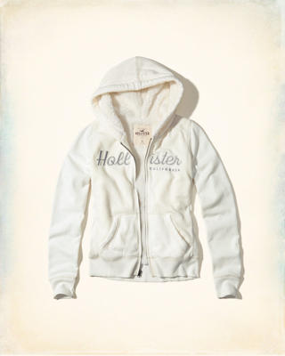 Sherpa-Lined Graphic Hoodie