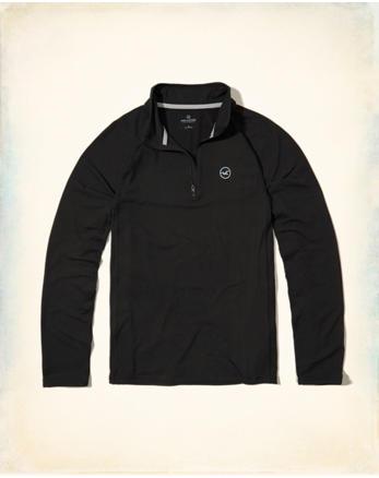 hol Half-Zip Mockneck T-Shirt