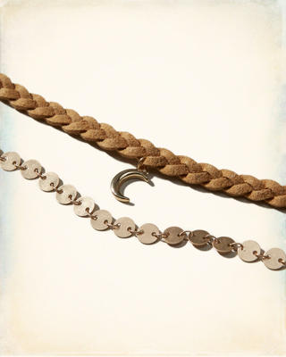 Braided Charm Layered Choker
