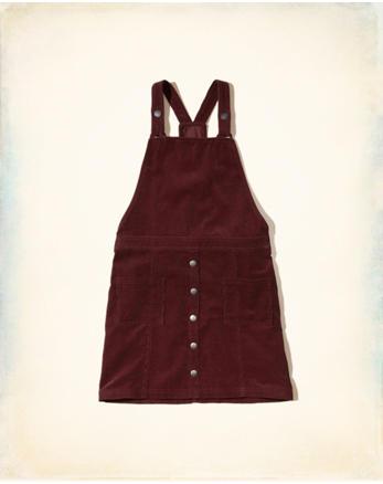 hol Corduroy Overall Dress