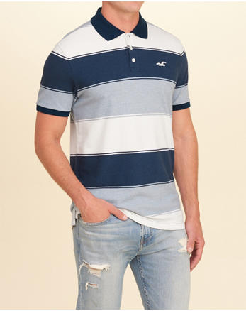 hol Stretch Pique Stripe Polo