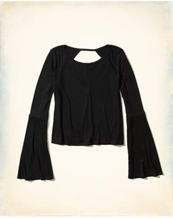 hol Open Back Bell-Sleeve Top