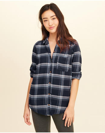 hol Oversized Flannel Shirt