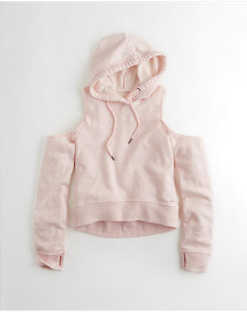hol Cold Shoulder Boxy Hoodie