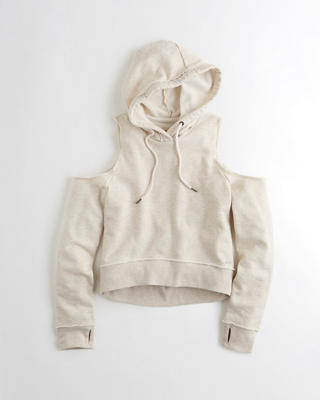 Cold Shoulder Boxy Hoodie